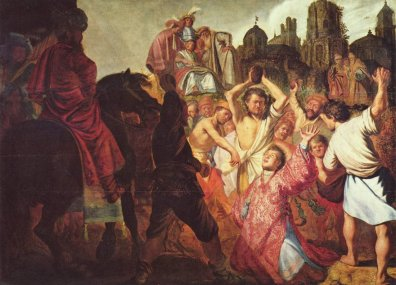 Persecution: The stoning of St. Stephen