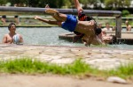 Fun in the Sun was awesome. There're two massive pools and the boy's campsite is built on the banks of the Vaal River.